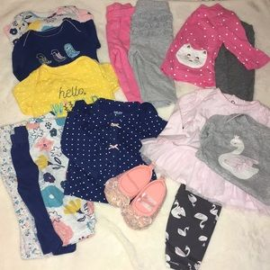 Carters Baby Girl 3 Month Bundle